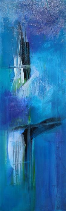 Discover Original Art by Nicholas Foschi | Blue Tranquility acrylic painting | Art for Sale Online at UGallery