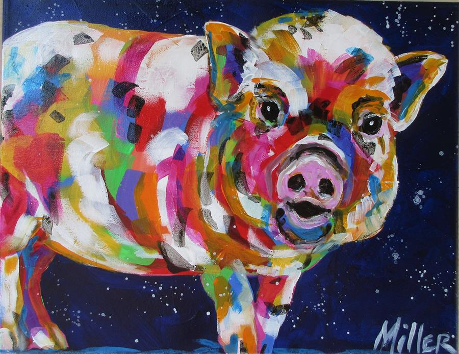 "Discover Original Art by Tracy Miller | What""s Up? acrylic painting 