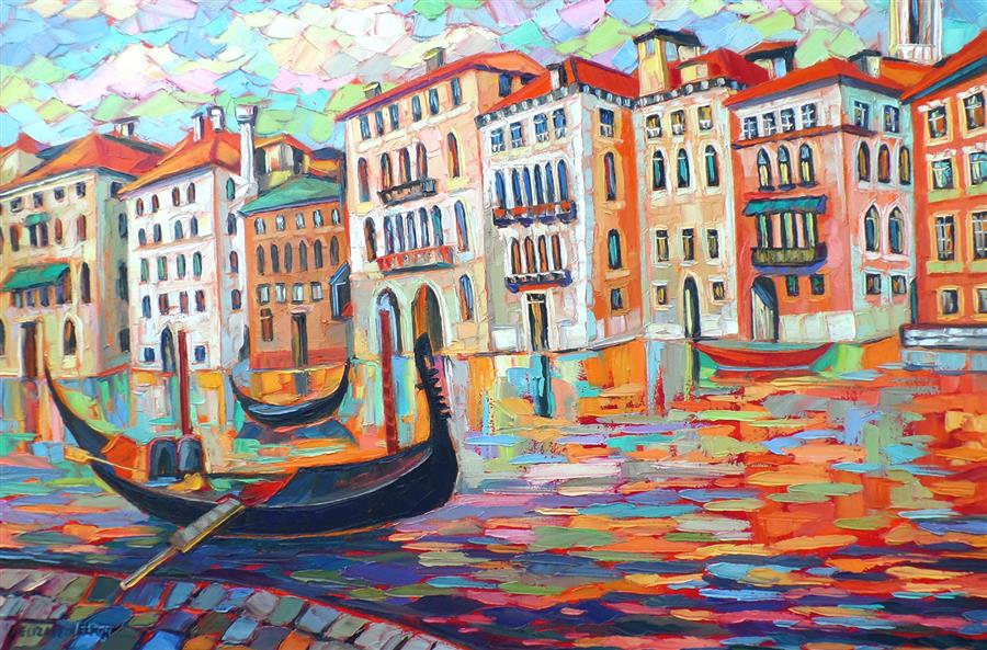 Discover Original Art by Elizabeth Elkin | In Venice oil painting | Art for Sale Online at UGallery