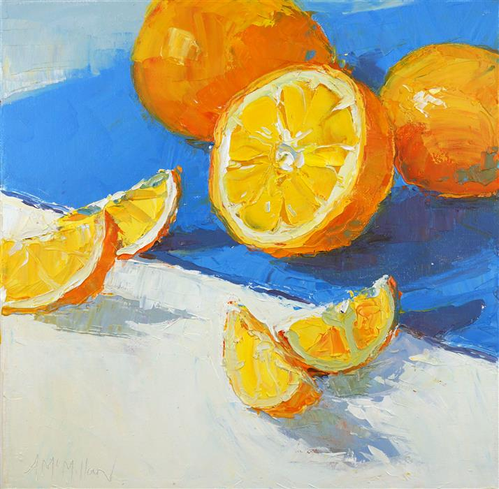 Discover Original Art by Ann  McMillan | Meyer Lemons oil painting | Art for Sale Online at UGallery