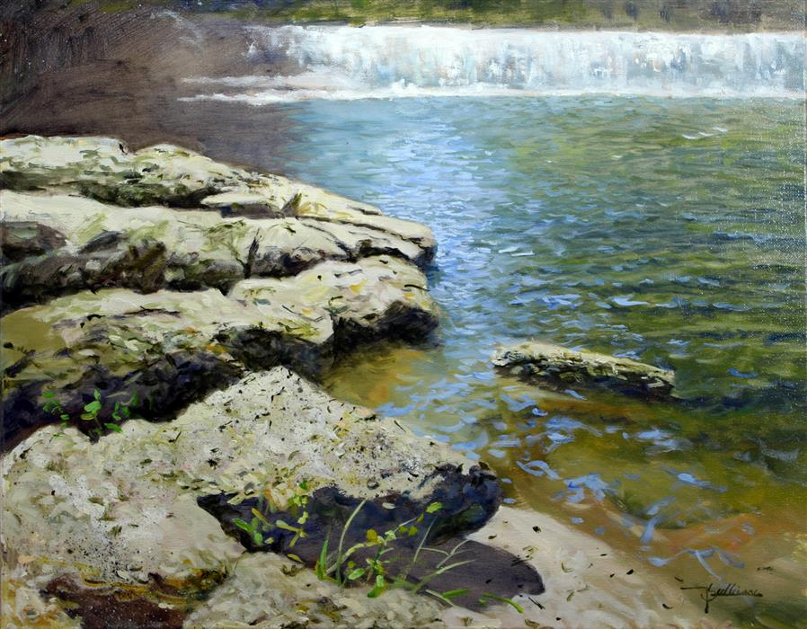 Discover Original Art by Kent Sullivan | Hooker Falls oil painting | Art for Sale Online at UGallery