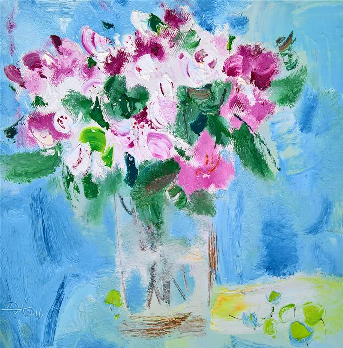 Discover Original Art by Yi Tian | Flowers in Vase 028 oil painting | Art for Sale Online at UGallery