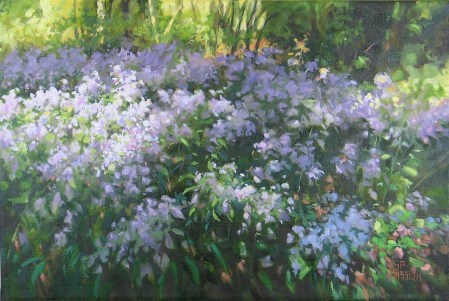 Discover Original Art by Suzanne Massion | Aster Interlude oil painting | Art for Sale Online at UGallery