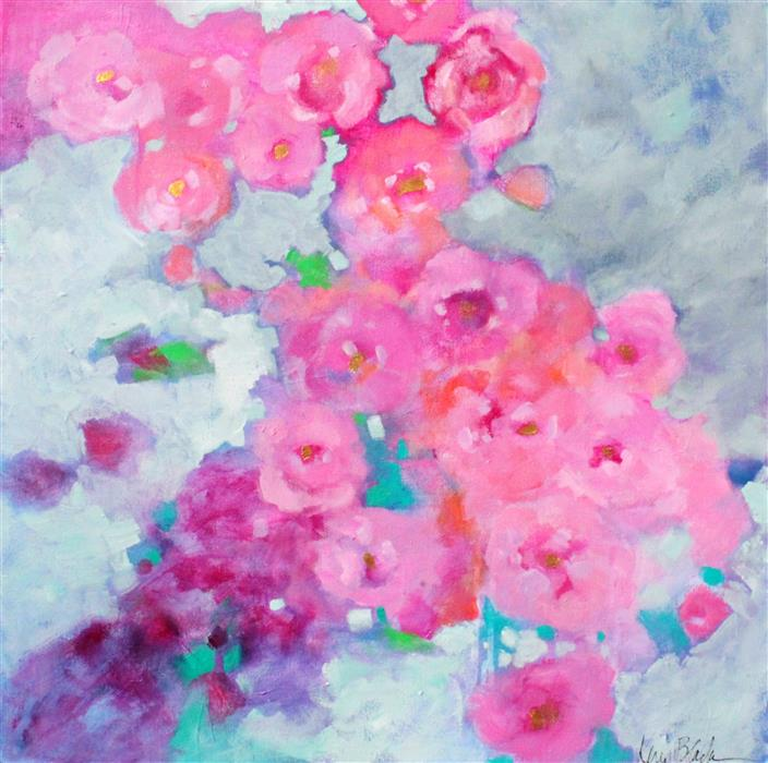 Discover Original Art by Kerri  Blackman | Rose Cascade acrylic painting | Art for Sale Online at UGallery