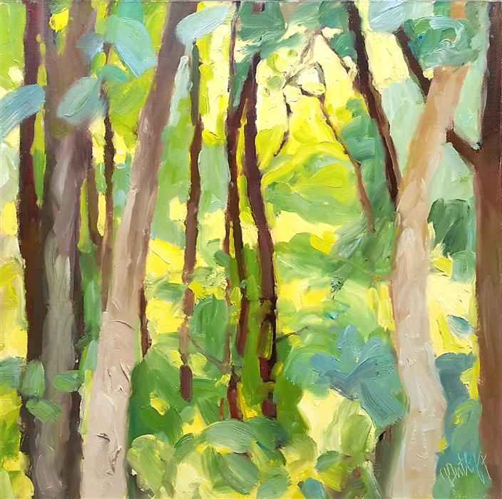 Discover Original Art by Julia Sutliff | Summer Woods oil painting | Art for Sale Online at UGallery
