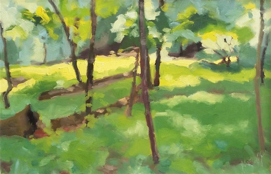 Discover Original Art by Julia Sutliff | Edge of Woods oil painting | Art for Sale Online at UGallery