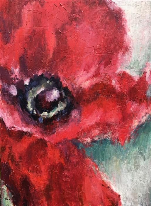 Discover Original Art by Nava Lundy | Hello, Poppy! acrylic painting | Art for Sale Online at UGallery