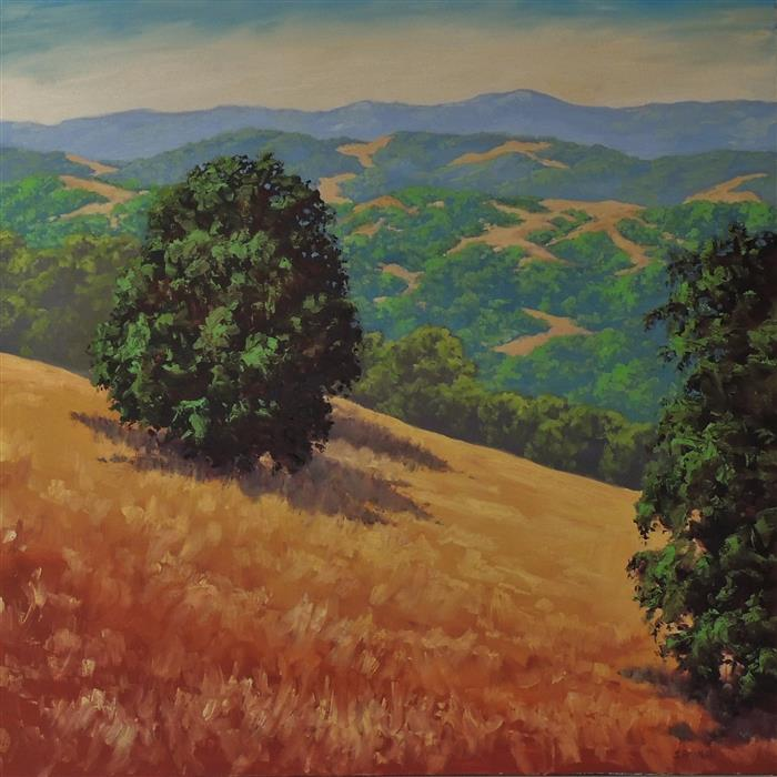 Discover Original Art by Steven Guy Bilodeau | Sentiments of Golden Hills oil painting | Art for Sale Online at UGallery