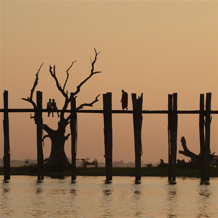 Discover Original Art by Etienne Roudaut | U Bein Bridge, Orange photography | Art for Sale Online at UGallery