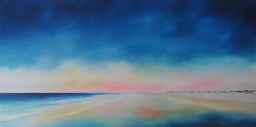 Discover Original Art by Nancy Hughes Miller | Beach Light, Bird Island oil painting | Art for Sale Online at UGallery