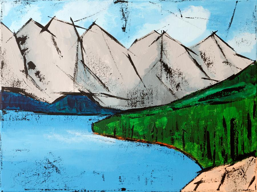 Discover Original Art by Tanya Grabkova | Alaska acrylic painting | Art for Sale Online at UGallery