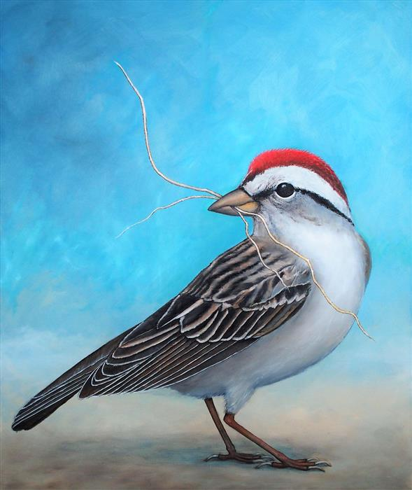 Discover Original Art by Jennifer Ross | The Other Imperfect Bird oil painting | Art for Sale Online at UGallery