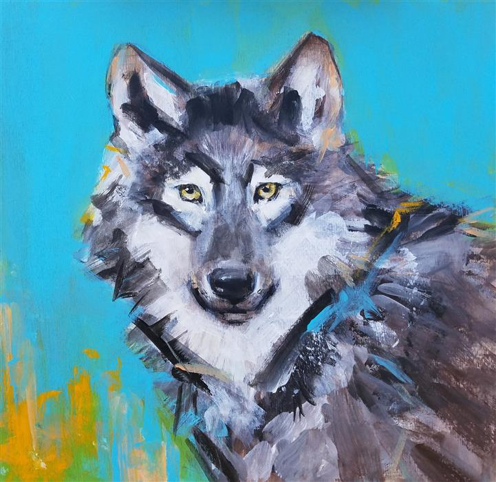 Discover Original Art by Victoria Bearden | Wolf Song acrylic painting | Art for Sale Online at UGallery