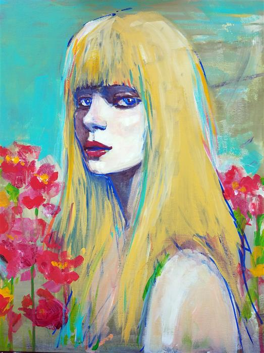 Discover Original Art by Victoria Bearden | Go Girl acrylic painting | Art for Sale Online at UGallery