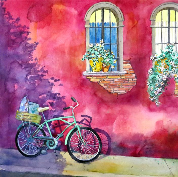 Discover Original Art by Nancy Muren | Shopping in Style watercolor painting | Art for Sale Online at UGallery
