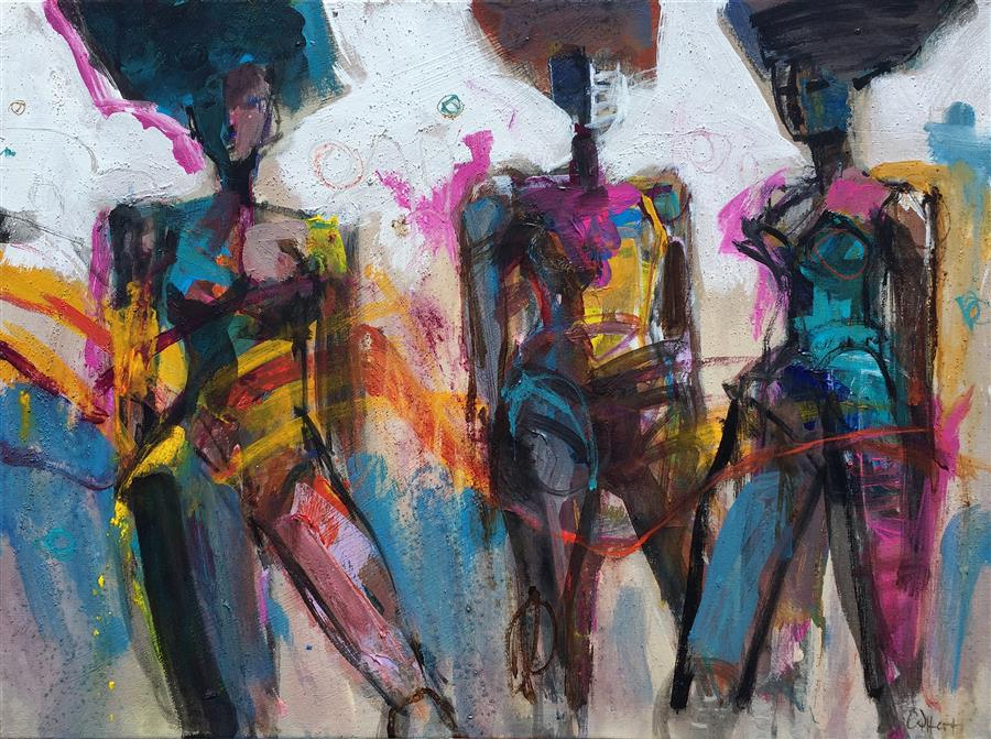 Discover Original Art by Allen Wittert | Club Dancers acrylic painting | Art for Sale Online at UGallery