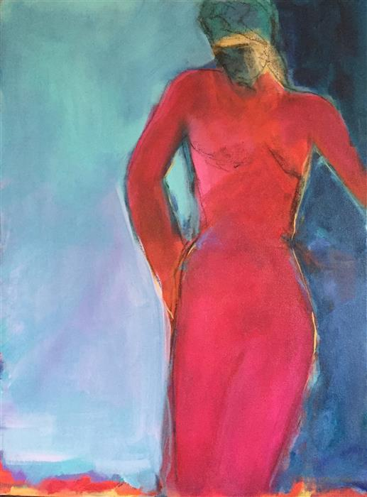 Discover Original Art by Robin Okun | Red Again acrylic painting | Art for Sale Online at UGallery