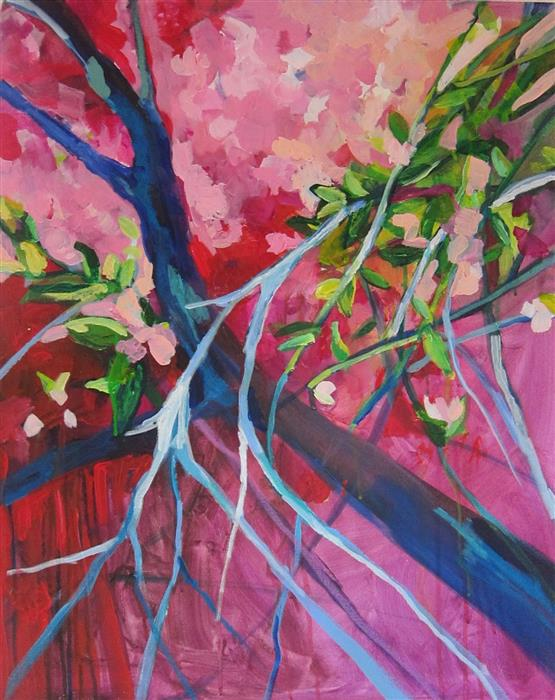 Discover Original Art by Colette Wirz Nauke | Medley of Blossoms acrylic painting | Art for Sale Online at UGallery