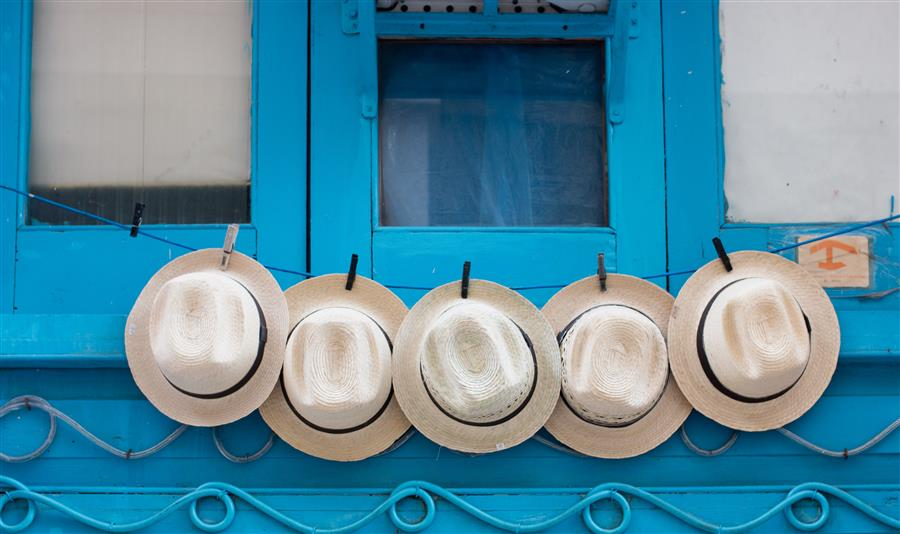 Original art for sale at UGallery.com | Hats for Sale in Havana by REBECCA PLOTNICK | $295 |  | ' h x ' w | \art\photography-Hats-for-Sale-in-Havana