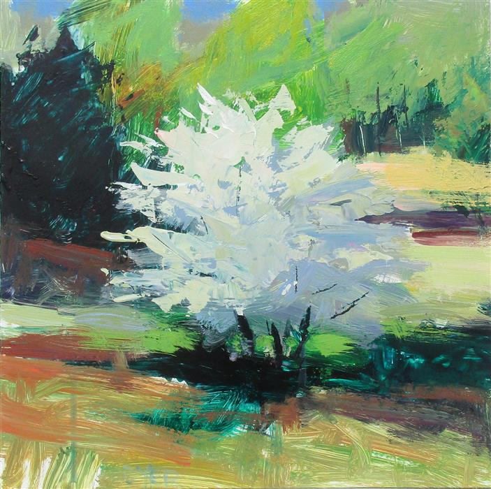 Discover Original Art by Janet Dyer | Spring Tree, Harriman acrylic painting | Art for Sale Online at UGallery