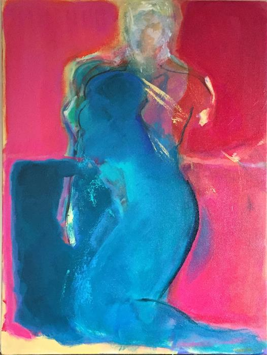 Discover Original Art by Robin Okun | Figure acrylic painting | Art for Sale Online at UGallery