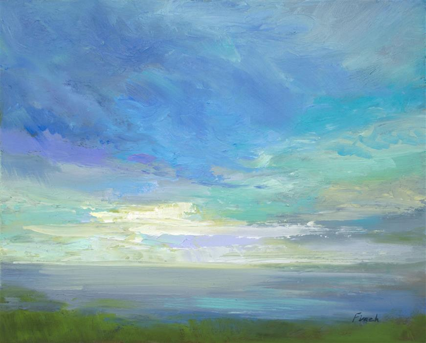 Discover Original Art by Sheila Finch | Siesta Key Sky Light oil painting | Art for Sale Online at UGallery