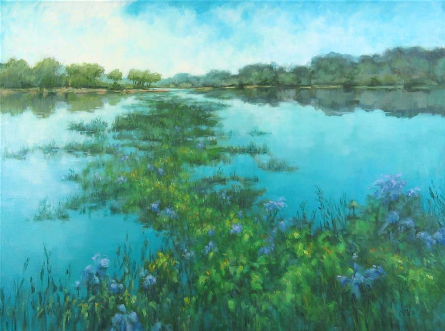 Discover Original Art by Suzanne Massion | Water World oil painting | Art for Sale Online at UGallery