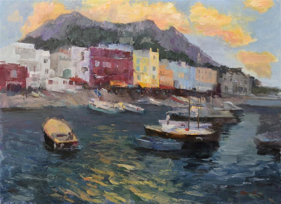 Discover Original Art by Oksana Johnson | Capri oil painting | Art for Sale Online at UGallery