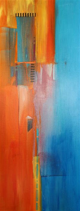 Discover Original Art by Nicholas Foschi | Orange Maze acrylic painting | Art for Sale Online at UGallery