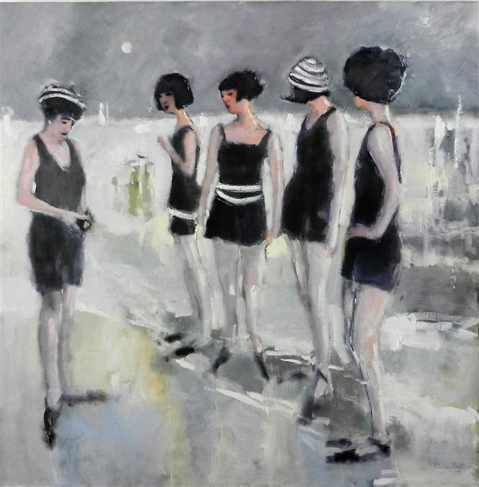 Discover Original Art by Mary Pratt | Posers oil painting | Art for Sale Online at UGallery