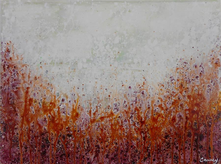 Discover Original Art by Lisa Carney | Fire Bush acrylic painting | Art for Sale Online at UGallery