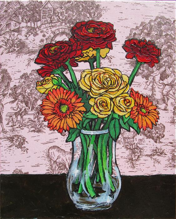 Discover Original Art by Greg Angelone | Mixed Bouquet 11 acrylic painting | Art for Sale Online at UGallery