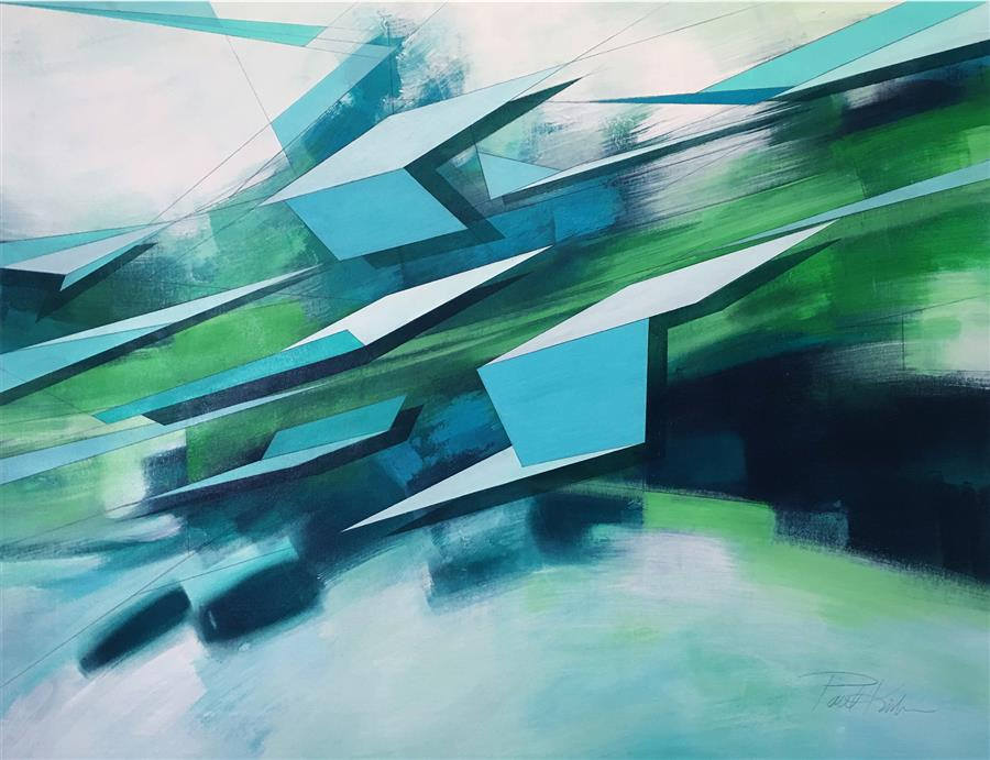 Discover Original Art by Paul Kirley | Abstract Landscape 69 acrylic painting | Art for Sale Online at UGallery