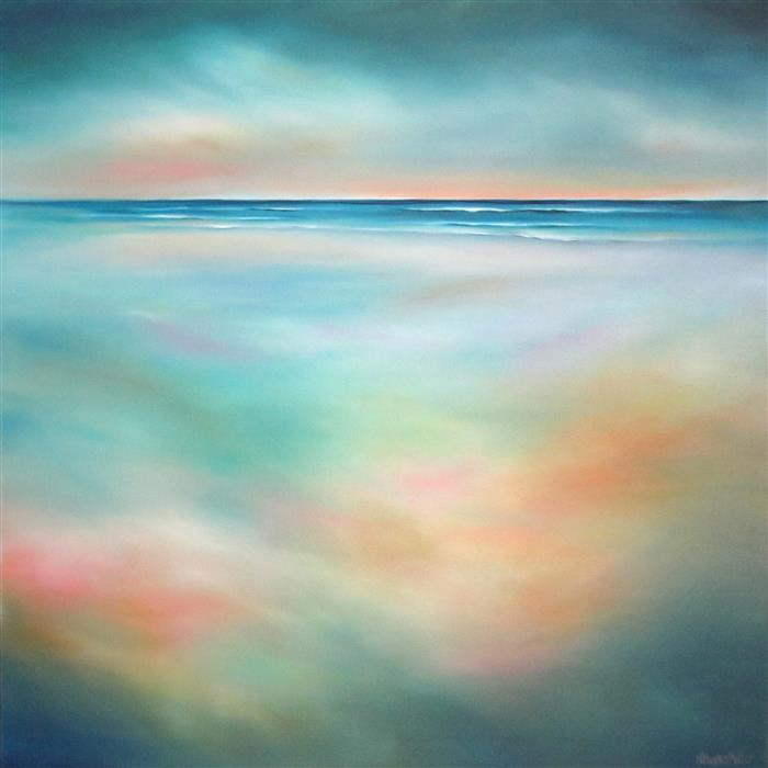 Discover Original Art by Nancy Hughes Miller | Daybreak Sands oil painting | Art for Sale Online at UGallery