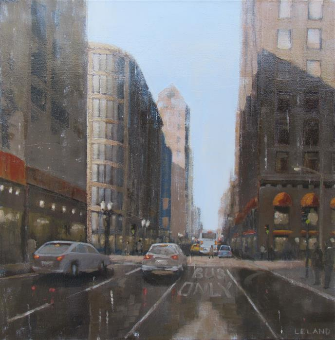 Discover Original Art by Jim Leland | Geary and Powell oil painting | Art for Sale Online at UGallery