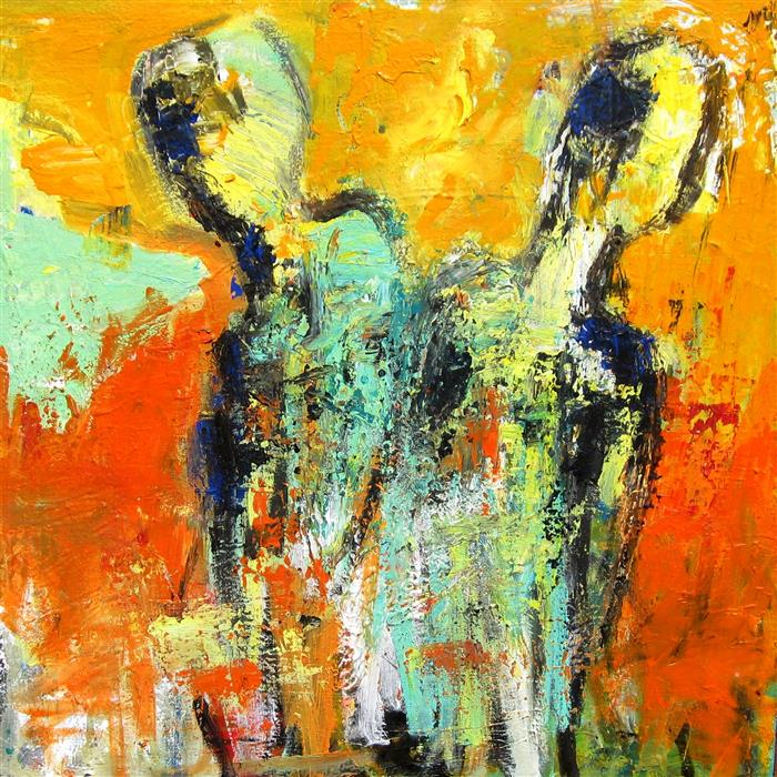 Discover Original Art by Ron Klotchman | Together Apart acrylic painting | Art for Sale Online at UGallery