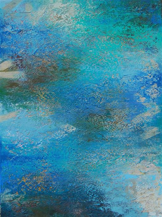Discover Original Art by Janet Hamilton | Seascape D mixed media artwork | Art for Sale Online at UGallery