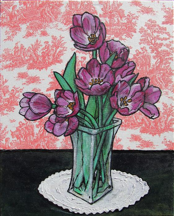 Discover Original Art by Greg Angelone | Tulips acrylic painting | Art for Sale Online at UGallery