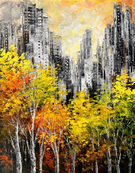 Discover Original Art by Tatiana Iliina | Parkview Pirouette acrylic painting | Art for Sale Online at UGallery