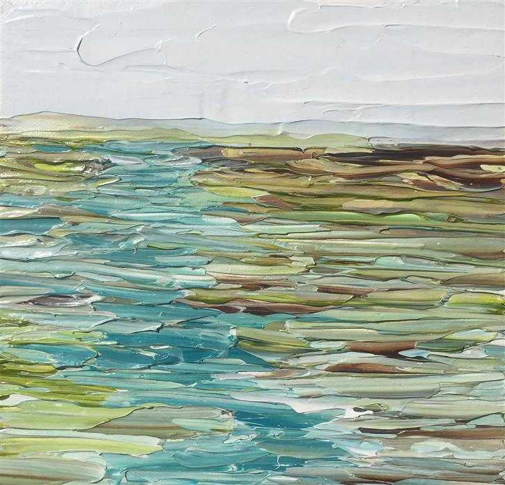 Discover Original Art by Ruth LaGue | River Runs Through acrylic painting | Art for Sale Online at UGallery