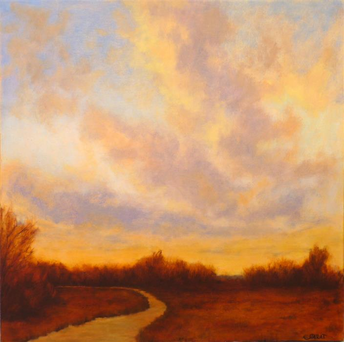 Discover Original Art by Elizabeth Garat | Down the Delta oil painting | Art for Sale Online at UGallery