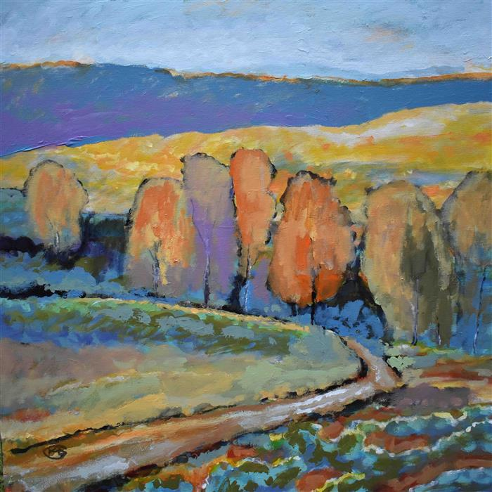 Discover Original Art by Kip Decker | Road To The River acrylic painting | Art for Sale Online at UGallery