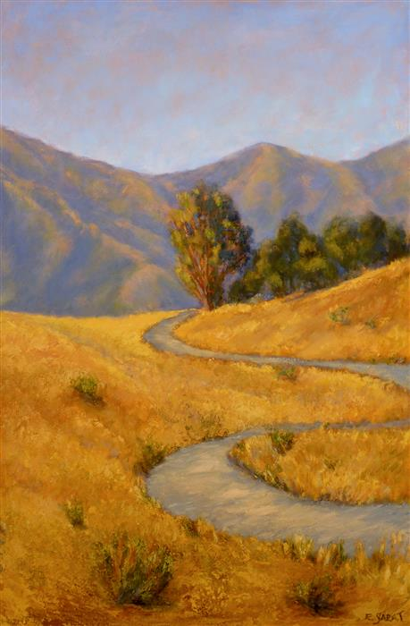 Discover Original Art by Elizabeth Garat | Evening Meander oil painting | Art for Sale Online at UGallery