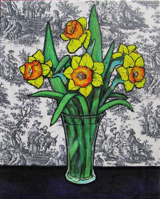 Discover Original Art by Greg Angelone | Daffodils acrylic painting | Art for Sale Online at UGallery