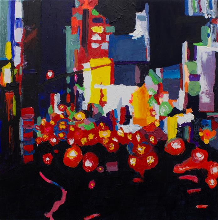 Discover Original Art by Geoffrey Stein | Traffic acrylic painting | Art for Sale Online at UGallery