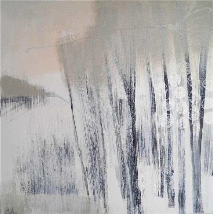 Discover Original Art by Cathe Hendrick | Winter Woods 1 acrylic painting | Art for Sale Online at UGallery