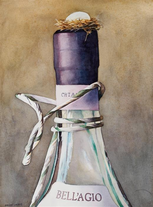Discover Original Art by Dwight Smith | New Wine with Grace watercolor painting | Art for Sale Online at UGallery