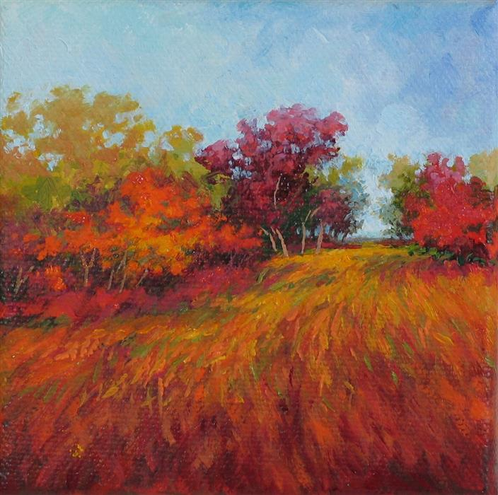 Discover Original Art by Suzanne Massion | Wind Through The Red Oaks oil painting | Art for Sale Online at UGallery
