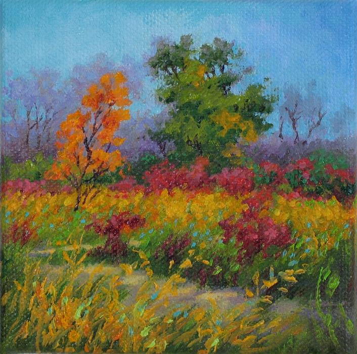 Discover Original Art by Suzanne Massion | Goldenrod Trail oil painting | Art for Sale Online at UGallery