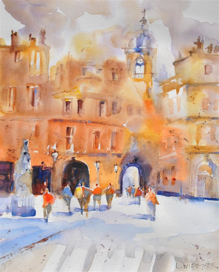 Discover Original Art by Lanie Widmar | La Marche watercolor painting | Art for Sale Online at UGallery